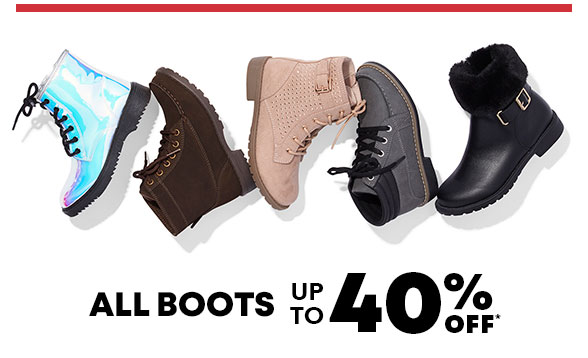 All Boots up to 40% Off