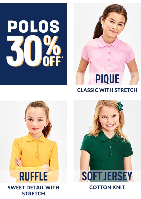 30% Off Girl Polos