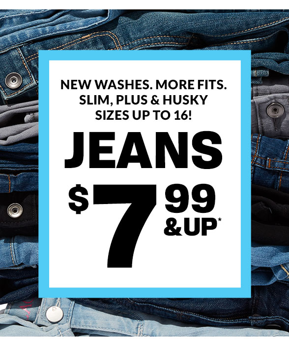 $7.99 & Up Jeans