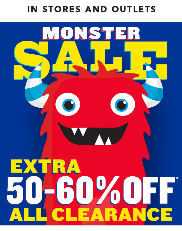 Monster Sale: 50-60% Off Clearance