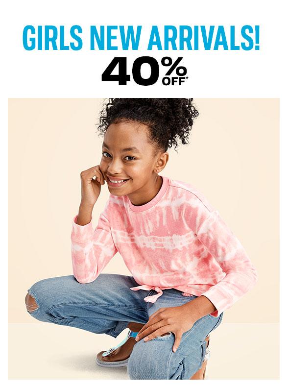 40% off Girls New Arrivals