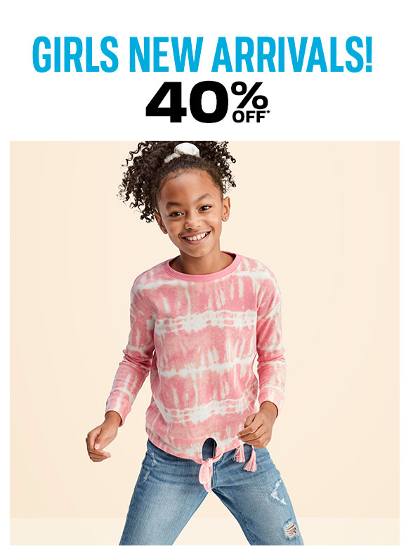 40% off Girls New Arrivals