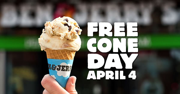 Free Cone Day Is Coming!