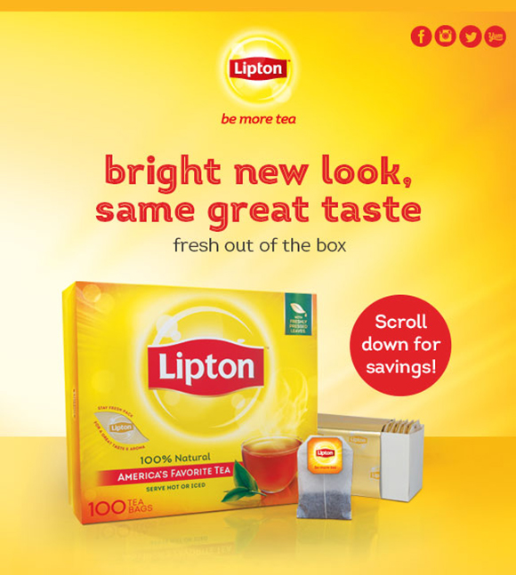 bright new look, same great taste