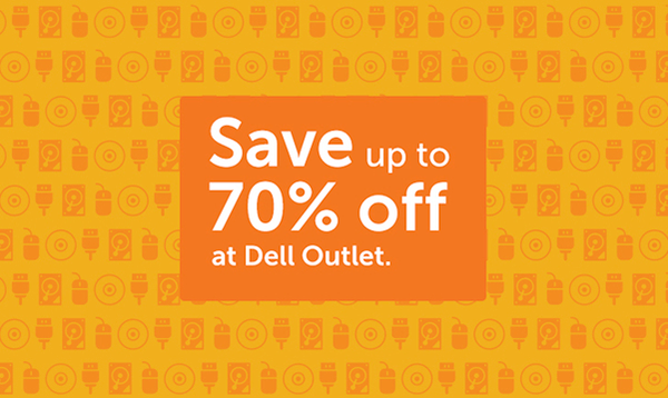 Save up to 70% off at Dell Outlet.