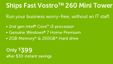 Ships Fast Vostro 260 Mini Tower